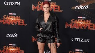 "Halsey ""Captain Marvel"" World Premiere Red Carpet"