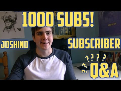 1000 subscribers Questions & Answers + Thanks - Joshino