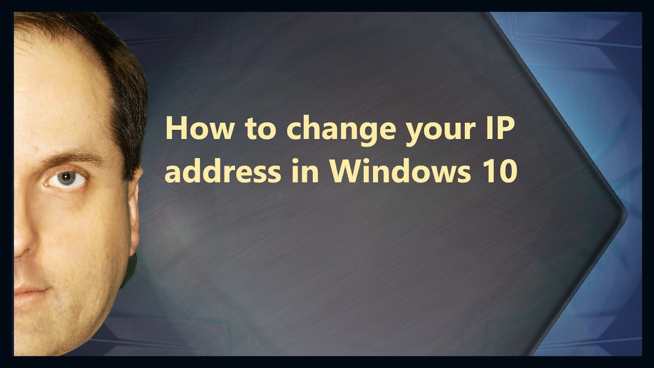 how to change ip address in windows 8