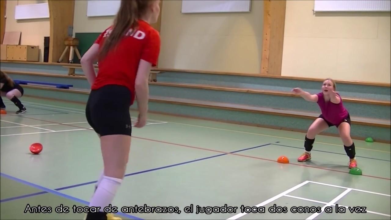 posiciones de acometida y muro linear unit voleibol