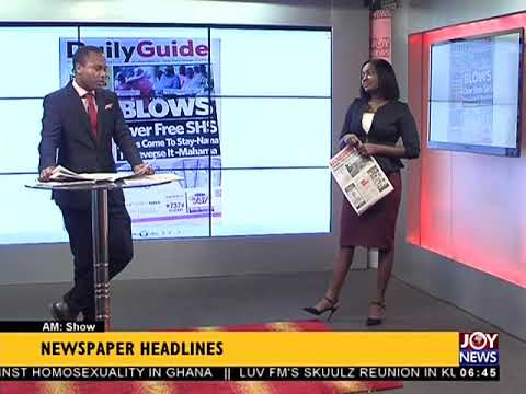 AM Show Newspaper Headlines on JoyNews (27-11-17)
