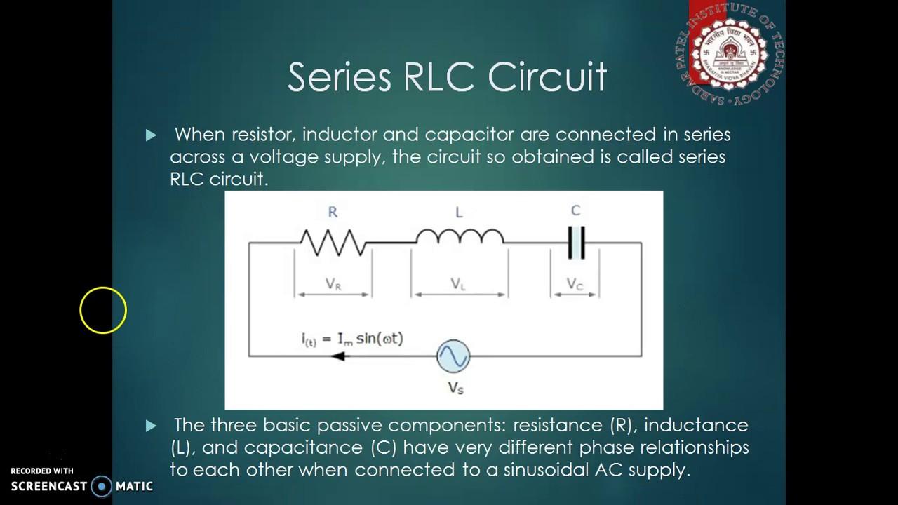 Rlc Series Circuit Details