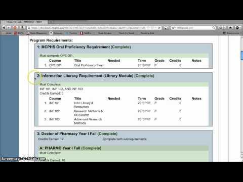 WebAdvisor Program Evaluation (MCPHS)