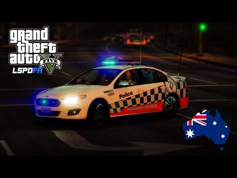 GTA 5 - NSW Police Mod - Evening Highway Patrol (Play GTA V as a cop mod for PC) #OZGTA