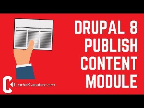 Drupal 8 Publish Content Module - Daily Dose of Drupal Episode 233 thumbnail