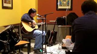 andrew eaton at open mic