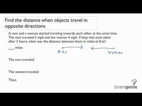 1.2.2 Find The Distance When Objects Travel In Opposite Directions