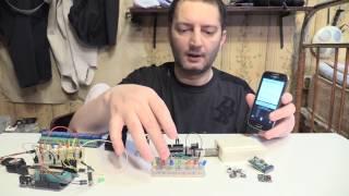 голосовое управление без прикосновения к телефону Voice control without touching phone Arduino