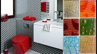 Latest Bathroom Wall Tile Designs | Multi-Colored Wall Tile Designs