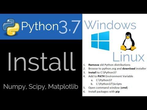 Install Python 3.7 on Windows or Linux
