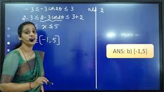 I PUC   CET/JEE   Trigonometric Functions