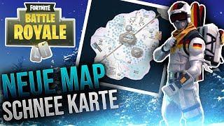 NEW SNOW MAP! Snow map - Fortnite Battle Royale [GERMAN]