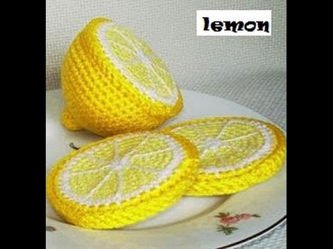 Crochet Fruit Segments lemon Tutorial | HD new 2018 - YouTube