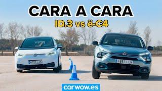 Citroën ë-C4 vs Volkswagen ID 3 - ¿CUÁL ES MEJOR? DRAG RACE y MOOSE TEST (#wowtest)