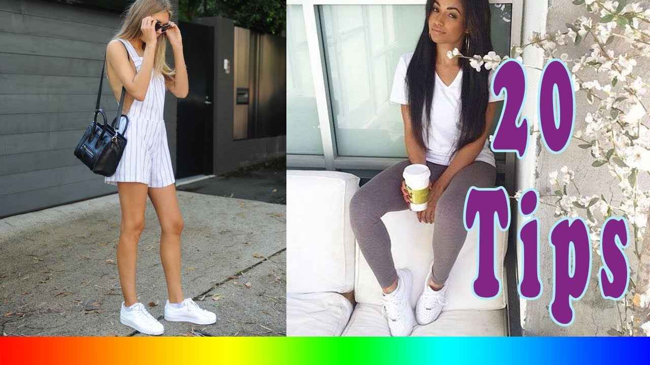 7f8a8e4eb3f 20 Style Tips On How To Wear White Adidas Sneakers This Summer - YouTube