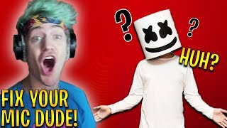 Ninja Gets MAD at Marshmello For Having Mic Problems! | Fortnite Highlights & Funny Moments