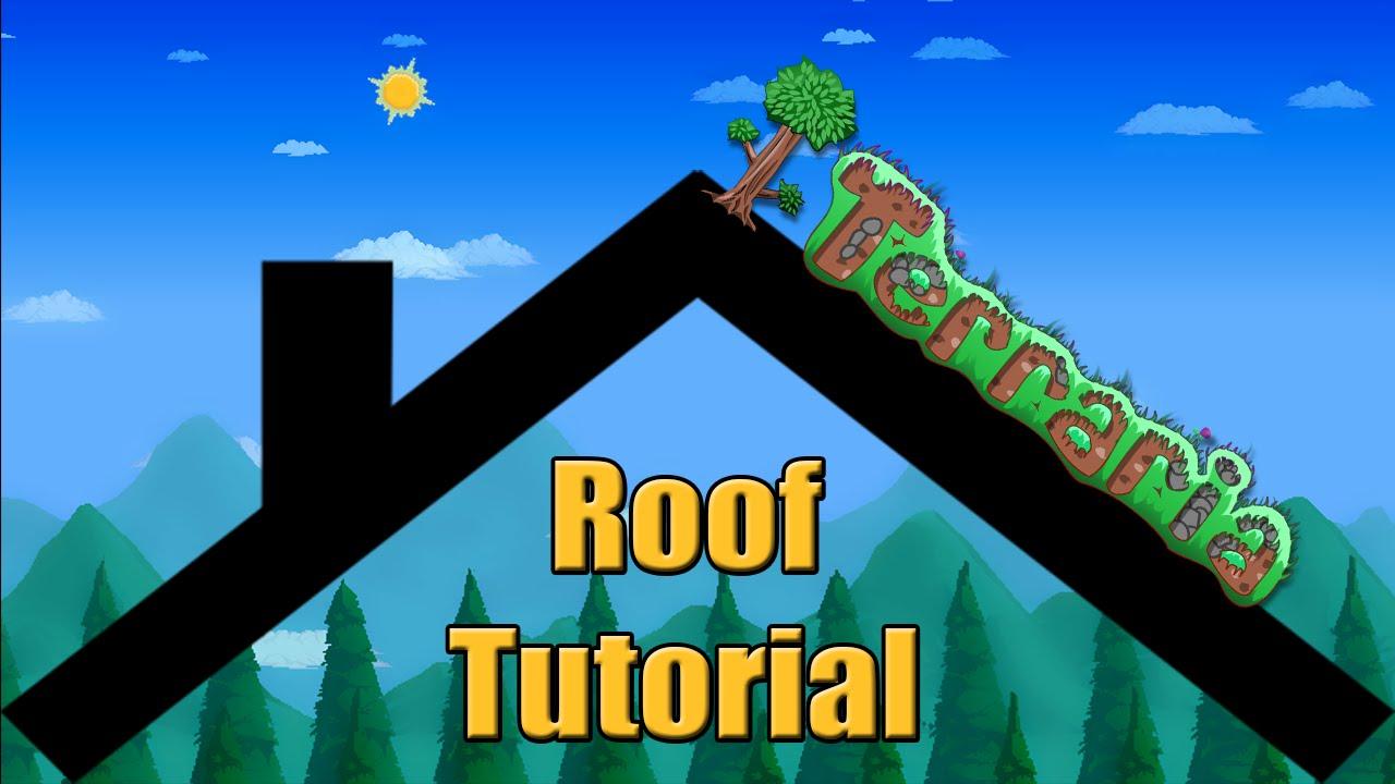 Terraria Roof Building Tutorial Youtube