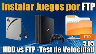 FTP vs HDD en PS4 5.05 - Pasar Juegos de PS4 por FTP Tutorial y Comparacion