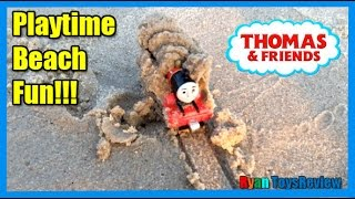 THOMAS AND FRIENDS Playtime at the Beach Thomas the Tank Engine James Surprise Toys Ryan ToysReview