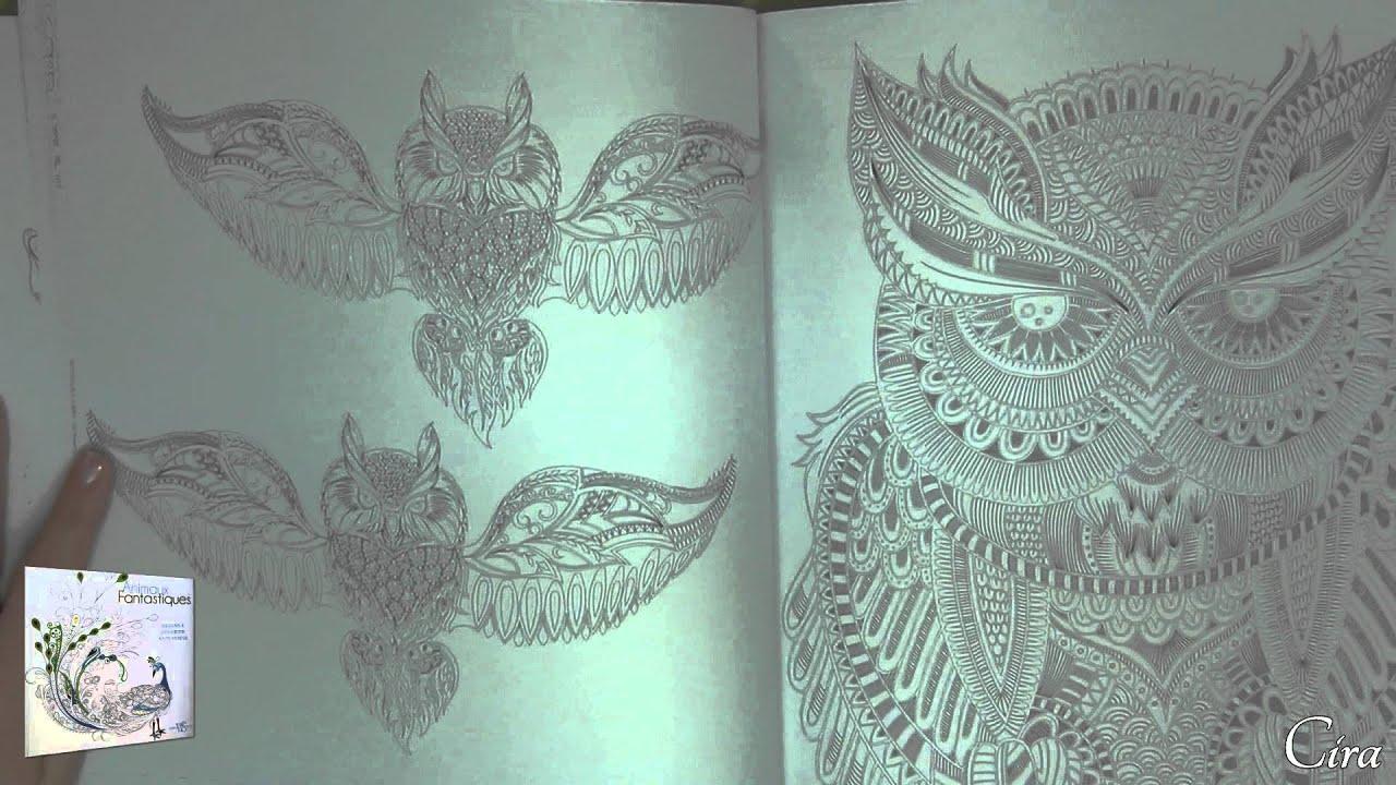 Livre de coloriages animaux fantastiques Editions White Star