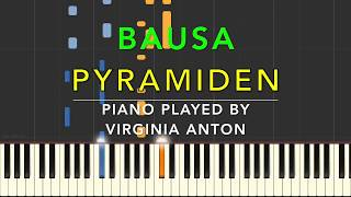 Pyramiden  Bausa  Piano Tutorial Instrumental Cover