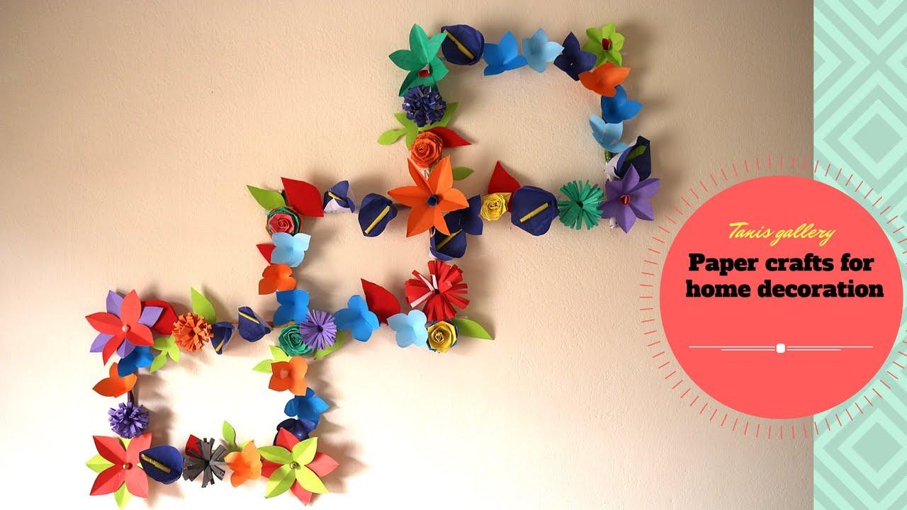 DIY ideas : Newspaper/Magazine Wall Decor | Paper crafts ...