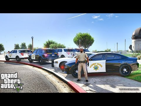GTA 5 MODS LSPDFR 837 - CHP PATROL!!! (GTA 5 REAL LIFE PC MOD)