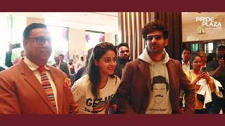 Pati Patni Aur Woh movie star cast at Pride Plaza Hotel Aerocity, New Delhi