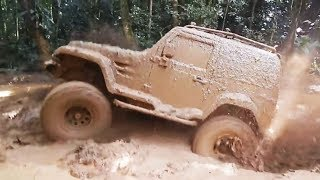 Cars in Mud. Compilation.