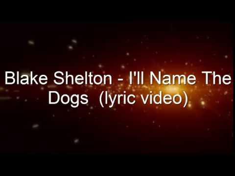 Blake Shelton -  I'll Name The Dogs (lyrics)