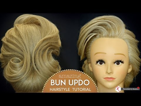 Amazing Bun Updo Hairstyle Tutorial | Step By Step Bun Hairstyle | Krushhh By Konica thumbnail