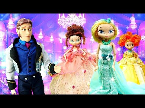 Видео для детей— Куклы Сказочный Патруль собираются набал— Видео игры ОДЕВАЛКИ для девочек