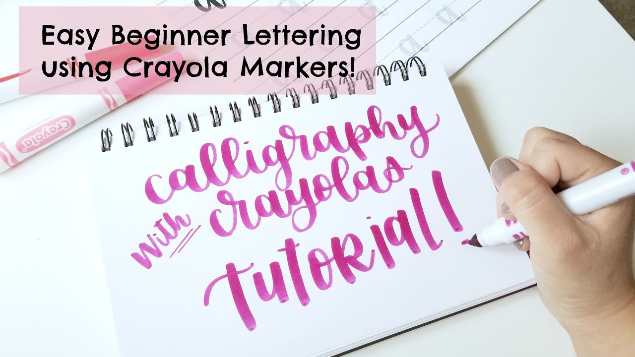 Crayola calligraphy tutorial easy and cheap hand