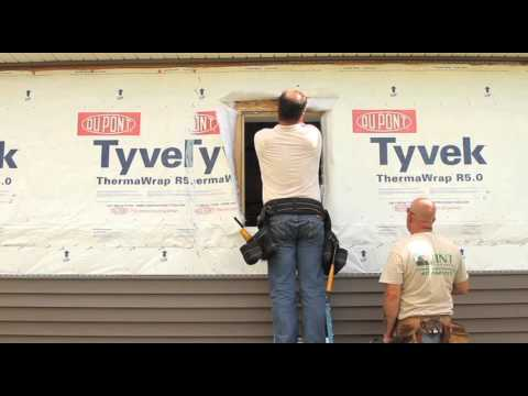 Installing Vinyl Siding Over Tyvek 174 Thermawrap 174 R5 0 Using
