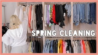 ORGANIZE WITH ME | SPRING CLEANING + DECLUTTER MY CLOSET