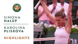 Simona Halep v Karolina Pliskova Highlights - Women's Semi-Final 2017   Roland-Garros
