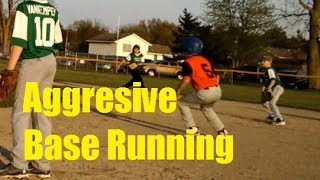 Aggressive base running WINS the game. Stealing home to win.