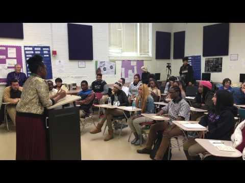 Chimamanda Ngozi Adichie Writers in Schools visit to Cardozo