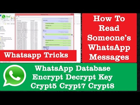 WhatsApp Database Encrypt Decrypt Key for WhatsApp Viewer | WhatsApp Tricks & Tweaks