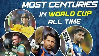Most Centuries Record in World Cup -  All Time Records