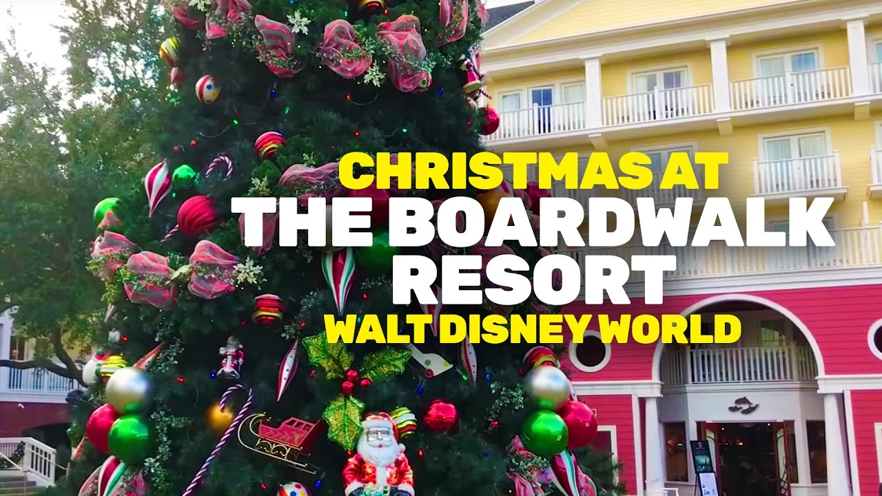 christmas at the boardwalk resort walt disney world