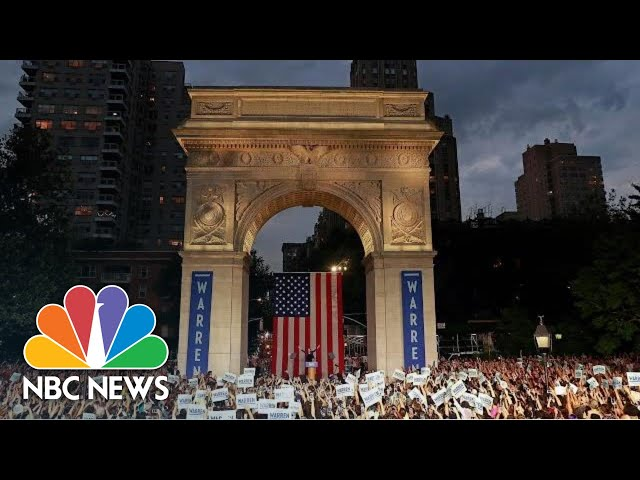 Elizabeth Warren Draws Largest Crowd Yet At NYC Rally | NBC News