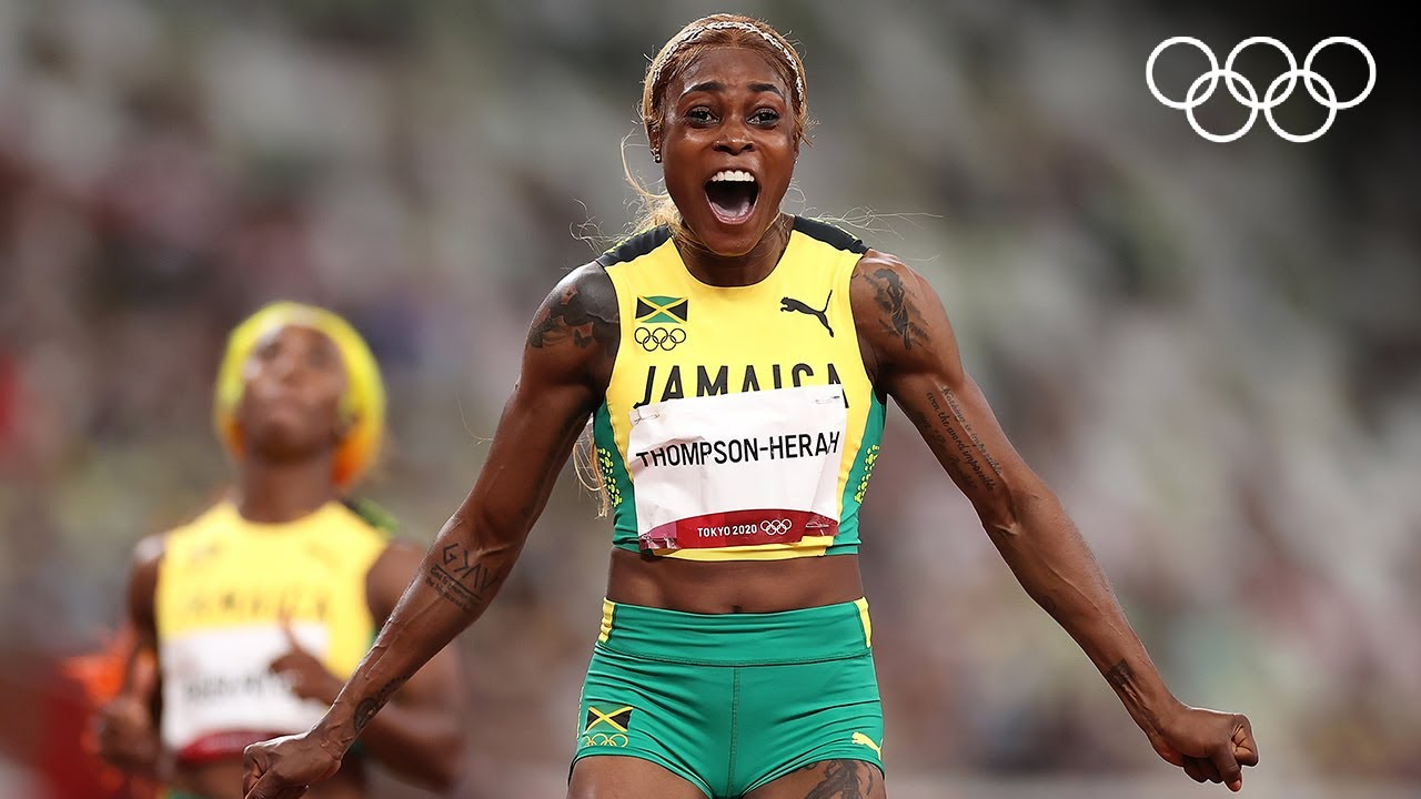 Download Elaine Thompson-Herah storms to 100m gold | #Tokyo2020 Highlights