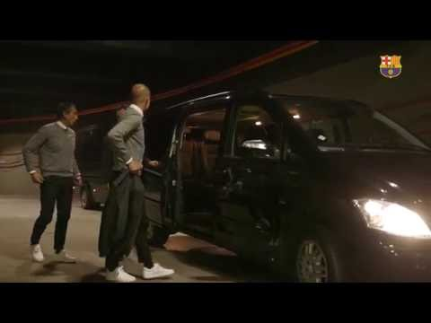 BEHIND THE SCENES - Guardiola's first hours back in Barcelona