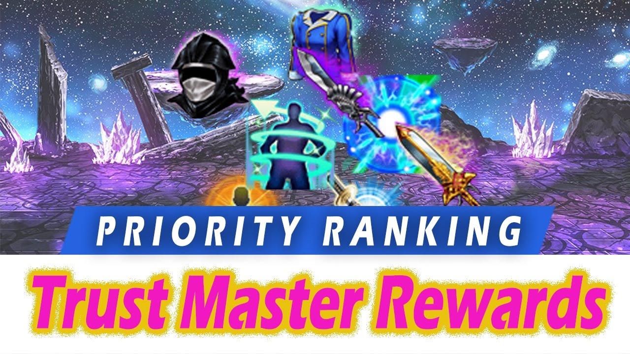 Ffbe Best Tmr 2020 FFBE] Trust Master Reward Priority Ranking   TMR Farming Order