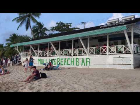 Barbados Best British Beach Bar, with Live Band, great music & breath taking Sunset