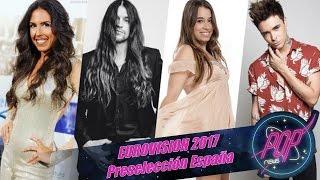 EUROVISION 2017: Candidatos internos preselección España