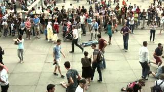 Flashmob - Trafalgar Square London - Rocket Attacks on Israel