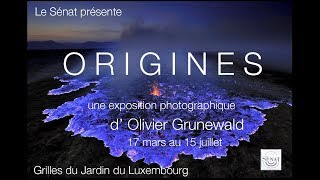 Exposition ORIGINES D'Olivier Grunewald sur les Grilles du Jardin du Luxembourg