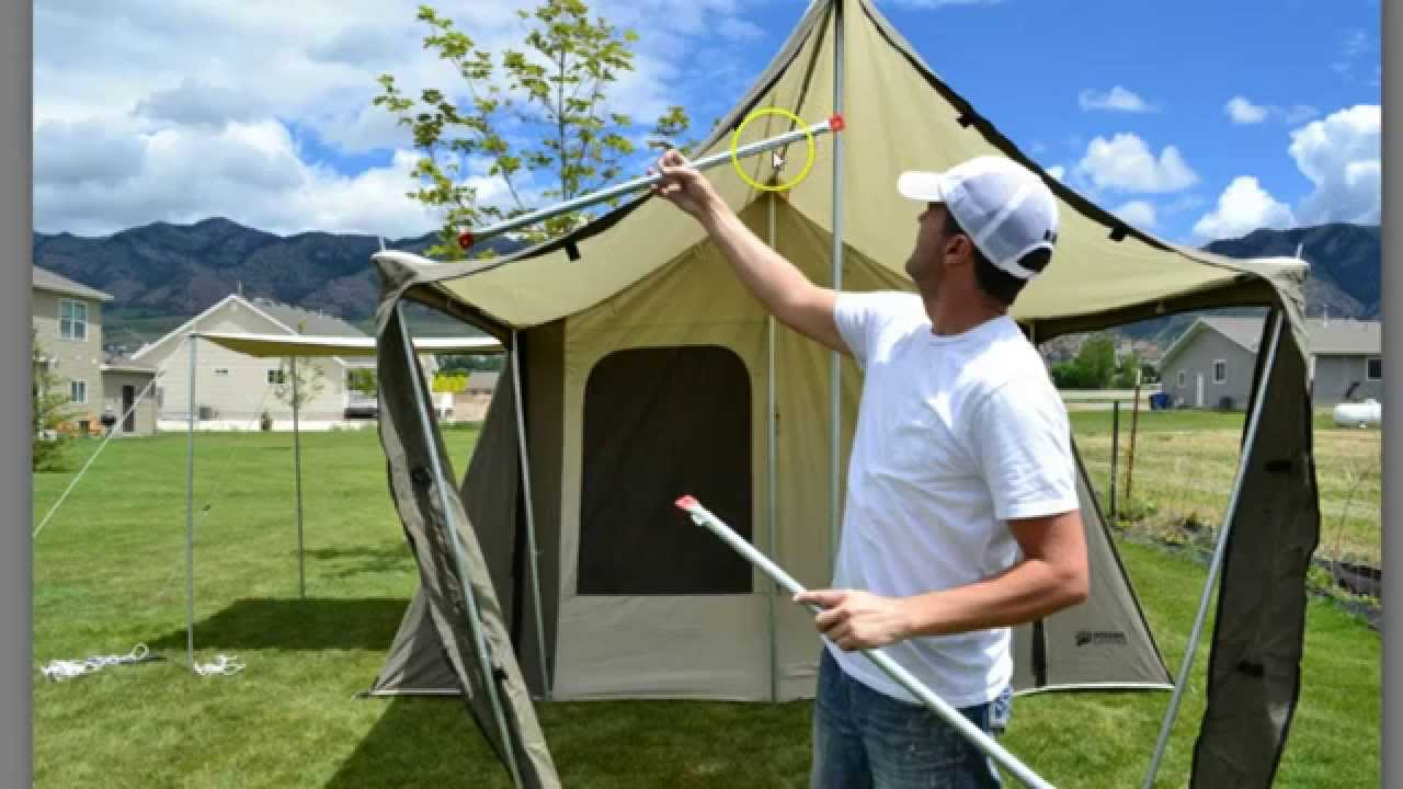 6133 Kodiak Tent Assembly Video In 10 Easy Steps Youtube